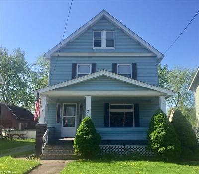 Girard OH Single Family Home Active Under Contract: $83,900