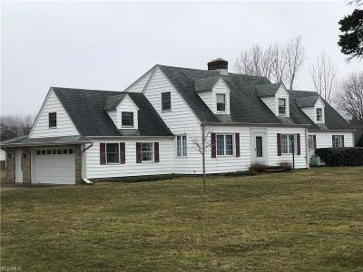 Conneaut Single Family Home For Sale: 1255 Lake Rd