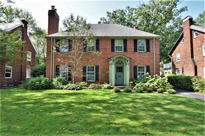 Shaker Heights Single Family Home For Sale: 3106 Chadbourne Road