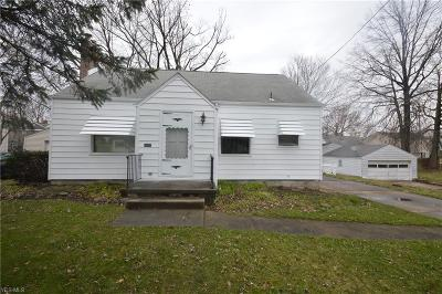 Boardman OH Single Family Home For Sale: $69,500