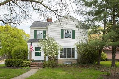 Rocky River Single Family Home For Sale: 1369 Elmwood Rd