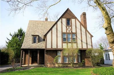 Shaker Heights Single Family Home For Sale: 3300 Chadbourne Road