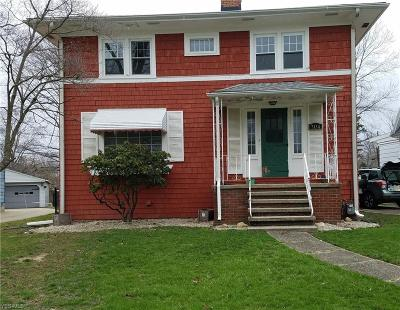 Ashtabula Single Family Home For Sale: 3134 Avon Blvd