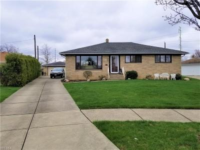 Cleveland Single Family Home Active Under Contract: 9637 Melody Lane
