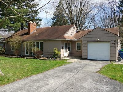 Olmsted Falls Single Family Home Active Under Contract: 8651 Lindbergh Boulevard