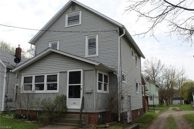 Alliance OH Single Family Home For Sale: $49,900
