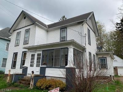 Ashland County Single Family Home For Sale: 326 West Main St