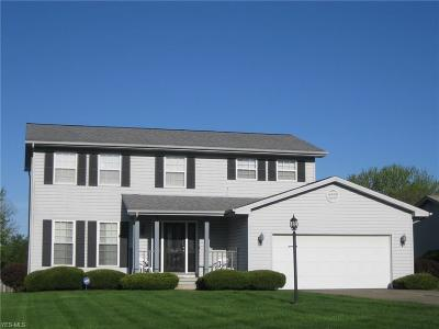 Canfield Single Family Home Active Under Contract: 3193 Meanderwood Drive
