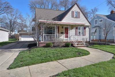 Cleveland OH Single Family Home Contingent: $169,900