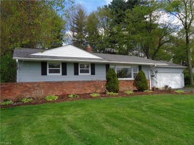Solon Single Family Home Active Under Contract: 31895 Bainbridge Road