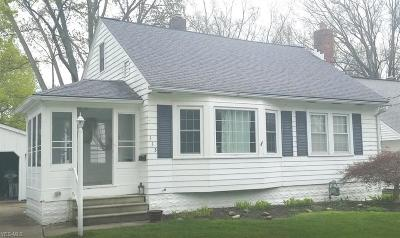 Avon Lake Single Family Home Active Under Contract: 113 Beck Road