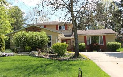 Solon Single Family Home Active Under Contract: 5695 Elm Hill Drive