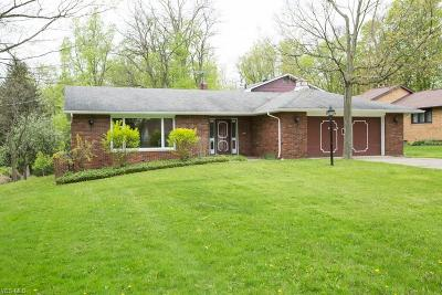 Solon Single Family Home Active Under Contract: 5240 Brainard Road