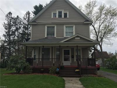 Conneaut Single Family Home Active Under Contract: 231 Whitney Street