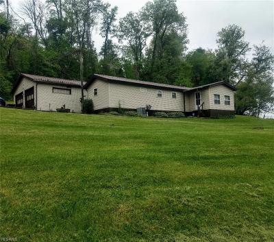 Guernsey County Single Family Home Contingent: 65007 Beeham Run Rd