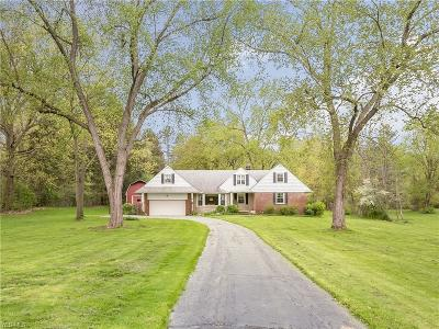 Chagrin Falls Single Family Home For Sale: 4040 Giles Rd