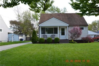 Cleveland OH Single Family Home Contingent: $139,900