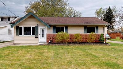 Mentor-On-The-Lake Single Family Home Active Under Contract: 5648 Park Street
