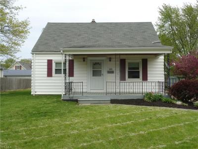 Lorain Single Family Home Active Under Contract: 2459 Homewood Drive