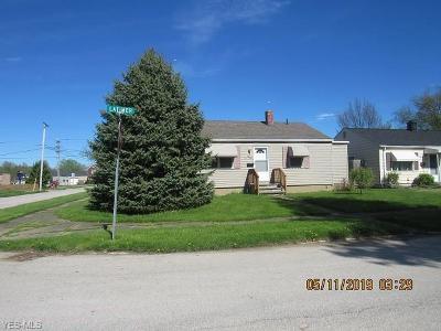 Ashtabula Single Family Home For Sale: 3006 Latimer Avenue