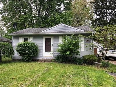 Columbiana Single Family Home Active Under Contract: 833 Fairfield School Road