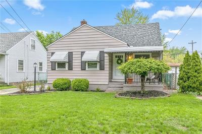 Cleveland OH Single Family Home Contingent: $109,900