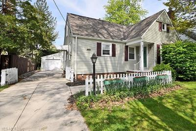 Bay Village Single Family Home Active Under Contract: 578 Columbia Road