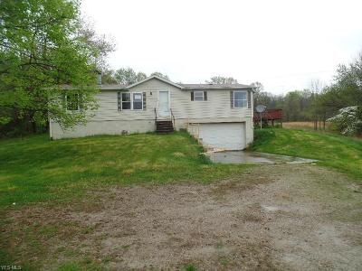 Guernsey County Single Family Home For Sale: 62496 Leatherwood Rd