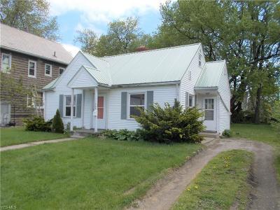 Ashtabula OH Single Family Home For Sale: $61,500