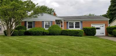 Boardman OH Single Family Home For Sale: $129,500