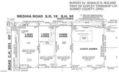 Copley Residential Lots & Land For Sale: 4660 Medina Rd