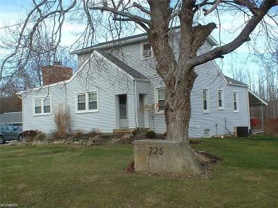 Medina County Single Family Home For Sale: 725 Sharon Copley Road