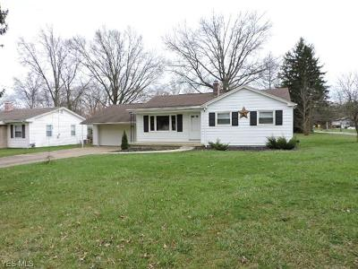 Youngstown OH Single Family Home Active Under Contract: $77,500
