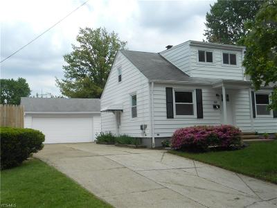 Painesville OH Single Family Home For Sale: $129,900