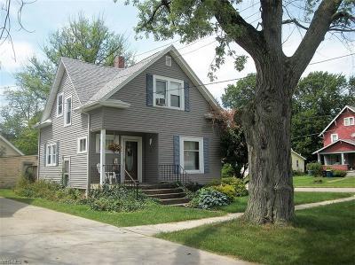 Ashtabula OH Single Family Home For Sale: $65,900