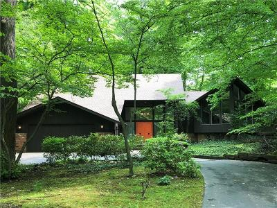 Chagrin Falls Single Family Home Active Under Contract: 8765 Holly Springs Trail