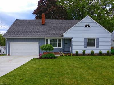 Wickliffe Single Family Home Active Under Contract: 29005 Ridge Road