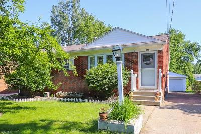 Elyria Single Family Home For Sale: 840 Wilder Avenue