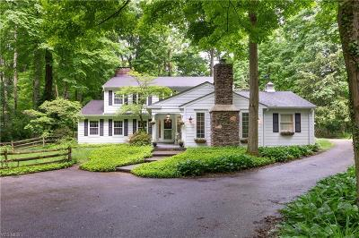 Chagrin Falls Single Family Home Active Under Contract: 14760 Hillbrook Lane