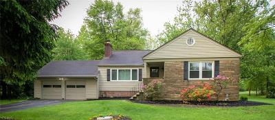 Chagrin Falls Single Family Home Active Under Contract: 28550 Pike Drive