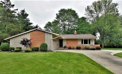 Solon Single Family Home Active Under Contract: 6005 Liberty Road