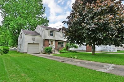 Boardman Single Family Home Active Under Contract: 6721 Paxton Road
