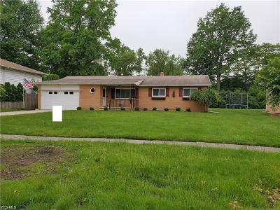 Mentor Single Family Home Active Under Contract: 6196 Melshore Drive
