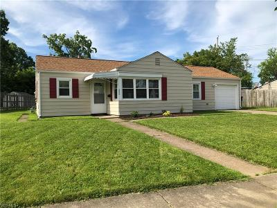 Elyria Single Family Home Active Under Contract: 688 Weller Road