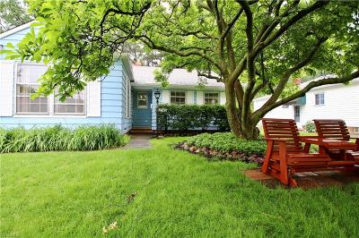 Rocky River Single Family Home Active Under Contract: 2745 Westmoor Road