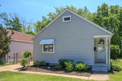 Cleveland Single Family Home Active Under Contract: 18905 Rockland Avenue