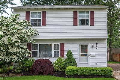 Willoughby Single Family Home Active Under Contract: 995 Garden Road