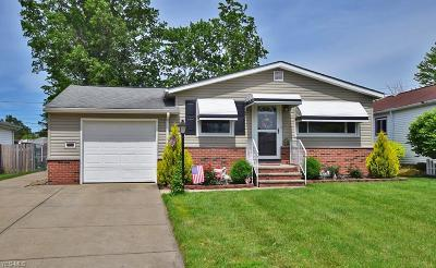 Wickliffe Single Family Home Active Under Contract: 1685 Drenik Drive