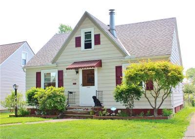 Cleveland Single Family Home Active Under Contract: 12405 Kensington Avenue