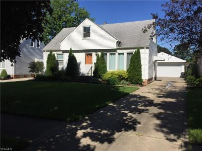 Cleveland Single Family Home Active Under Contract: 4480 W 191st Street